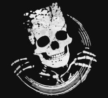 Grunge Skeleton Funny Design T-Shirt by Denis Marsili