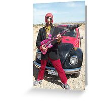 Retro Man guitarist Greeting Card
