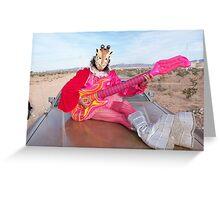 Play me a tune Giraffe Man Greeting Card