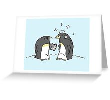 Waiting Penguins Greeting Card
