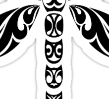 Tribal Dragonfly Tattoo Sticker