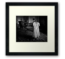 A White Dress In The Nursery Framed Print
