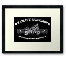 Kaylee's Workshop v2 Framed Print