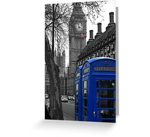 London - Blue Greeting Card