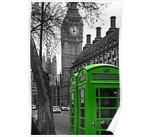 London - Green Poster