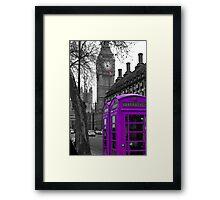 London - Purple Framed Print