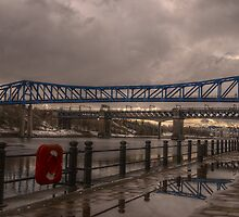 HDR Tyne Metro & King Edward Bridges by Andrew Pounder