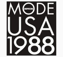 Depeche Mode : USA 1988 - Black by Luc Lambert