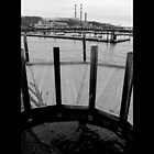 Port Jefferson Harbor Boardwalk View On Lipa Power Plant - Long Island, New York  by  Sophie Smith