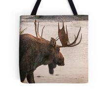 Bull Moose at the Snake River Tote Bag