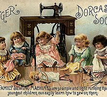 Vintage Singer Sewing Machine Ads circa 1900 by sturgils