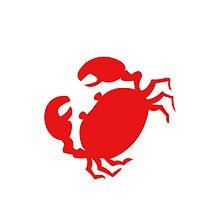 Cute Red Crab Outline by RedPine