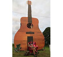 Play the Guitar Photographic Print