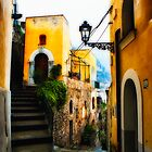 Old Street in Positano by George Oze
