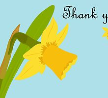 Thank you / Single Daffodil by AllJDesigns
