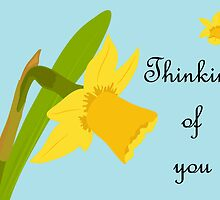 Thinking of you / Single Daffodil by AllJDesigns