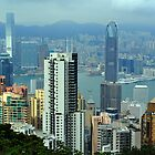 View From The Peak. Hong Kong. by Ralph de Zilva