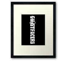 GHOSTFACERS Framed Print