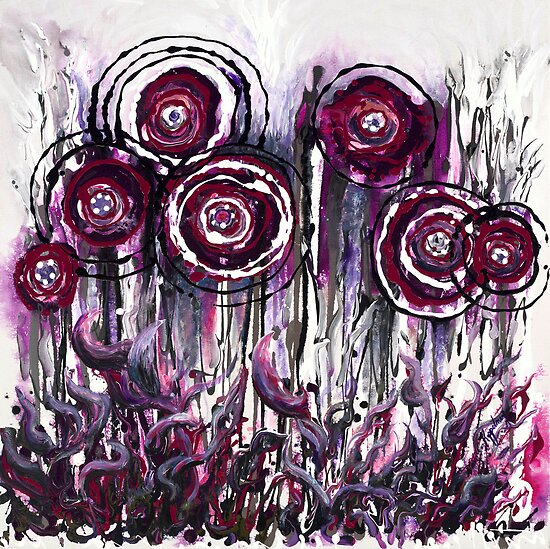Purple Poppies by Nadine Rippelmeyer