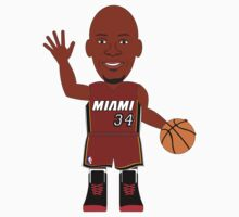 NBAToon of Ray Allen, player of Miami Heat by D4RK0