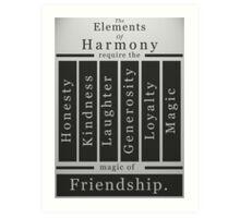 The Elements of Harmony Art Print