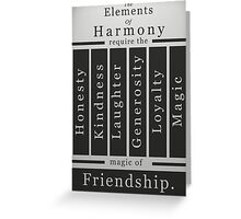 The Elements of Harmony Greeting Card