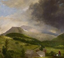 Approaching Storm, White Mountains, 1820s by Bridgeman Art Library
