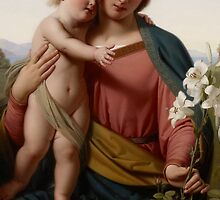 Madonna and Child, 1855 by Bridgeman Art Library
