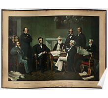 Print of Lincoln's cabinet based on Carpenter painting Poster