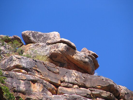Rock outcrop,  King George River, Kimberleys, WA by Fred1947