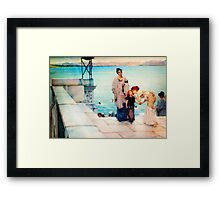 A Kiss by Sir Lawrence AlmaTadema Framed Print