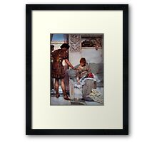 A Silent Greeting by Sir Lawrence Alma Tadema Framed Print
