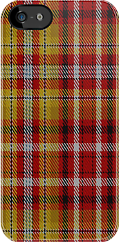 00263 Jacobite Old Sett Tartan Fabric Print Iphone Case by Detnecs2013