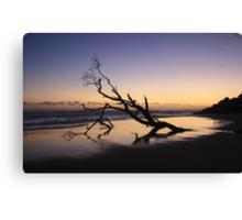 Dawn at Kingscliff Beach ... Canvas Print