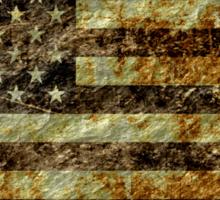 Grunge American Flag 3 Sticker