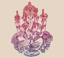 Ombre Indian Ganesh Elephant T-shirt by Pip Gerard