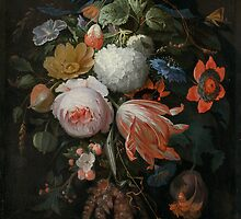 Abraham Mignon A Hanging Bouquet of Flowers probably 1665 by Adam Asar