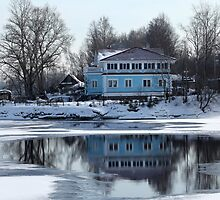 House on the river bank  by mrivserg