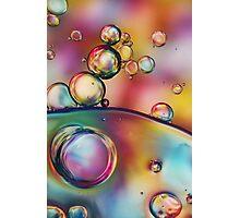 Rainbow Bubble Drops Photographic Print