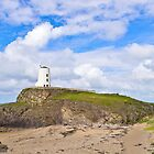 Lighthouse at Ynys Llanddwy by ajwimages