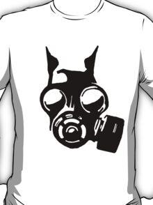 Future War Dog with a gas mask T-Shirt