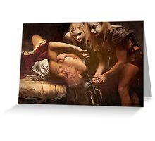 Judith Beheading Holofernes.  Greeting Card