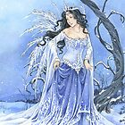 Blue Snow Queen Fairy by meredithdillman