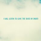 I will learn to love the skies Im under by beverlylefevre