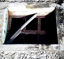 Old Cozumel Building Window by Rebekah Ormstrup