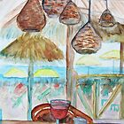 Wine at the beach by Anita Wann