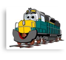 Tiel Train Engine Cartoon Canvas Print