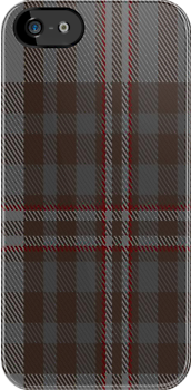 00329 Southdown Gray Tartan Fabric Print Iphone Case by Detnecs2013