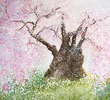 Jindai Zakura (2000 year-old cherry tree) by izumiomoriart