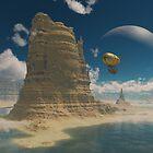 Balloon Ride Over Planet Castelorizona by tikirussy